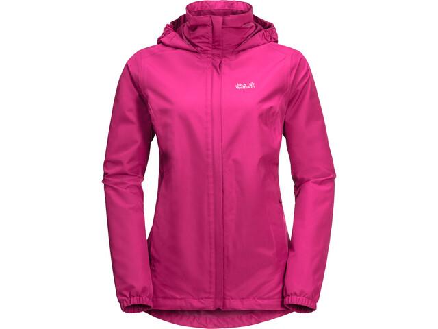 Jack Wolfskin Stormy Point Naiset takki , vaaleanpunainen